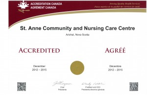 2012 Accreditation Certificate